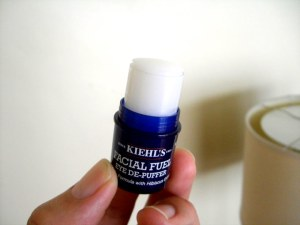 Kiehls Facial Fuel Eye De-Puffer Product Review Caulfield's Counter Cream Gel puffy dark circles