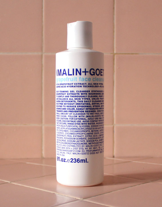 product review malin goetz grapefruit face cleanser. Black Bedroom Furniture Sets. Home Design Ideas