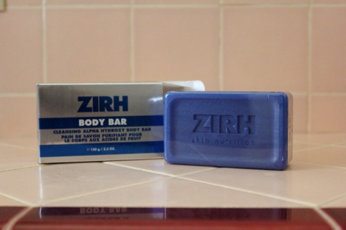 Zirh Body Bar Alpha Hydroxy Acid AHA Review Caulfields Counter male skincare mens grooming back acne