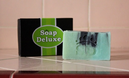 Soap Deluxe Green Bar Sporty Outgoing Caulfields Counter Mens grooming natural