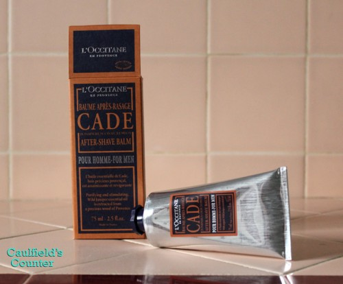 L'Occitane CADE After Shave Balm Men Review Caulfields Counter Grooming Male Skin Care Soothing Razor Burn Irritation