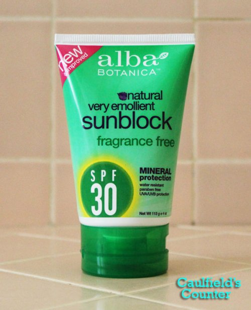 Alba Botanica sunblock spf 30 sunscreen mineral review Caulfield's Counter Skincare beauty grooming