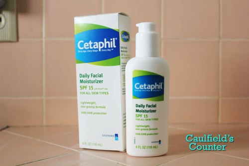 Cetaphil Daily Facial Moisturizer SPF 15 review Caulfield's Counter face sunscreen
