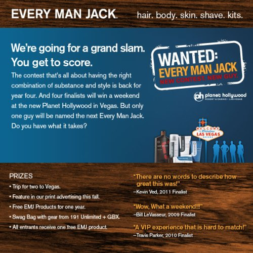 Every Man Jack: Wanted contest giveaway Caulfield's Counter male skincare men's grooming