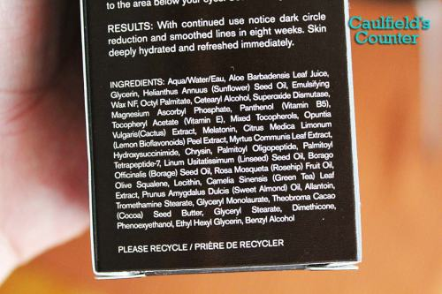 Every Man Jack Age Defying Eye Cream Ingredients List Review