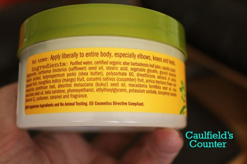 Alba Botanica Hawaiian Papaya Mango Body Cream Ingredients List on Caulfield's Counter